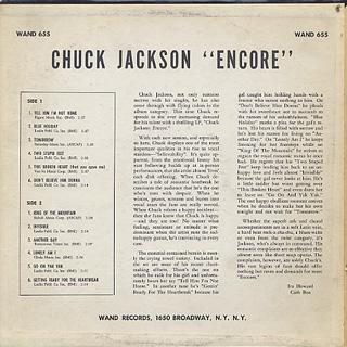Chuck Jackson / Encore! back