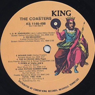 Coasters / On Broadway label