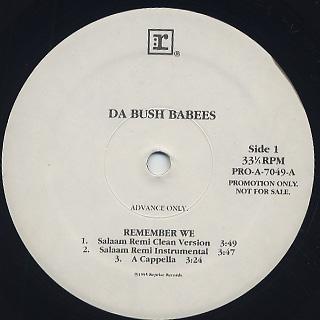 Da Bush Babees / Remember We
