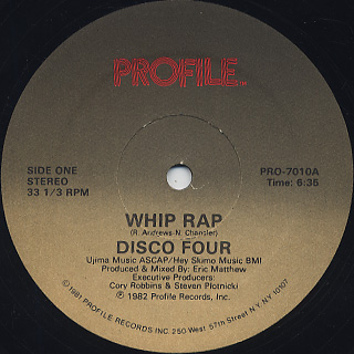 Disco Four / Whip Rap front
