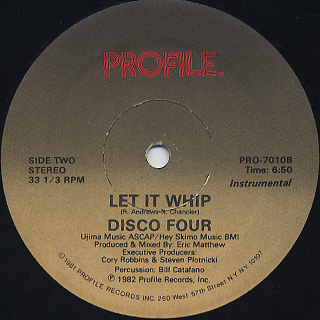 Disco Four / Whip Rap back