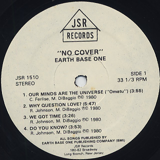 Earth Base One / No Cover label