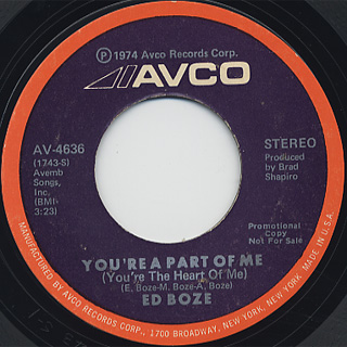 Ed Boze / You're A Part Of Me (You're The Heart Of Me)