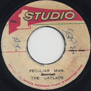 Gaylads / Peculiar Man c/w Soul Vendors / Darker Shade Of Black