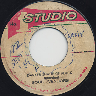 Gaylads / Peculiar Man c/w Soul Vendors / Darker Shade Of Black back