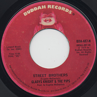 Gladys Knight And The Pips / Money c/w Street Brothers back