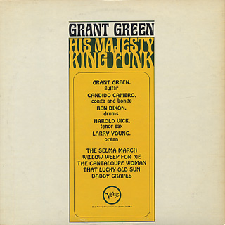 Grant Green / His Majesty King Funk back
