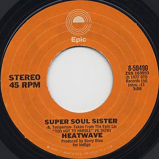 Heatwave / Super Soul Sister back