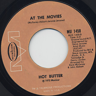 Hot Butter / Popcorn c/w At The Movies back