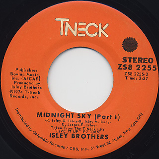 Isley Brothers / Midnight Sky(Part 1) c/w (Part 2)