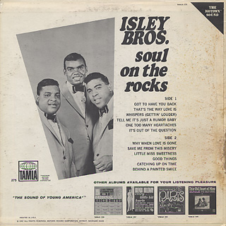 Isley Brothers / Soul On The Rocks back