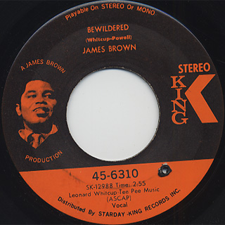James Brown / Brother Rapp (Part 1) & (Part 2) c/w Bewildered back