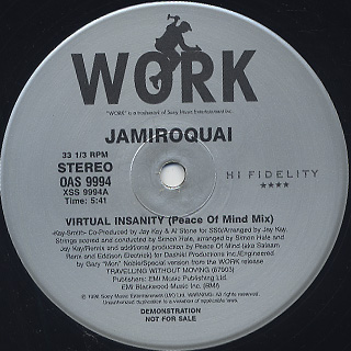 Jamiroquai / Virtual Insanity (peace of mind mix)