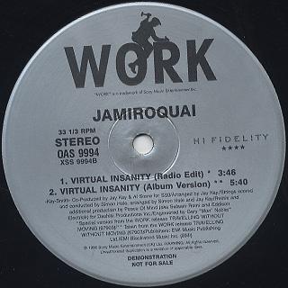 Jamiroquai / Virtual Insanity (peace of mind mix) back