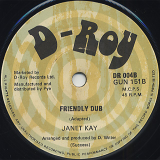 Janet Kay / That's What Friends Are For c/w Friendly Dub back