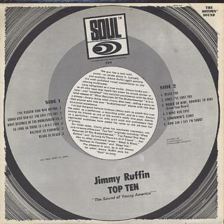 Jimmy Ruffin / Sings Top Ten back