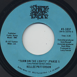 Kellee Patterson / Turn On The Lights(Phase I) c/w (Phase II) front