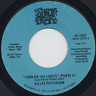 Kellee Patterson / Turn On The Lights(Phase I) c/w (Phase II) back