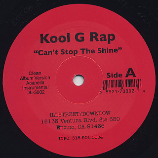 Kool G Rap / Can't Stop The Shine