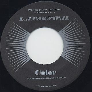 L.A. Carnival / Color c/w Blind Man back