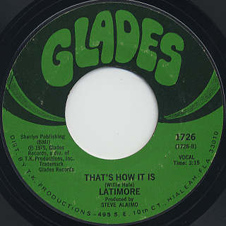 Latimore / Keep The Home Fire Burnin' c/w That's How It Is back