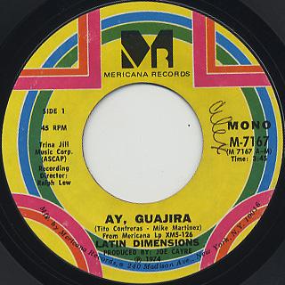 Latin Dimensions / Ay, Guajira c/w El Fumigador