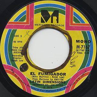 Latin Dimensions / Ay, Guajira c/w El Fumigador back