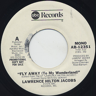 Lawrence Hilton Jacobs / Fly Away(To My Wonderland) c/w (Mono) back
