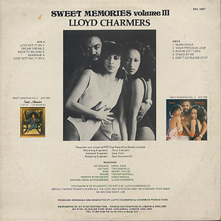 Lloyd Charmers / Sweet Memories Volume 3 back