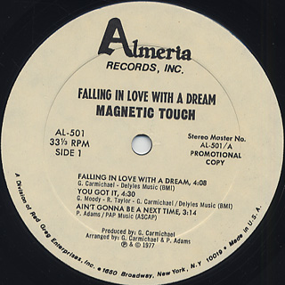 Magnetic Touch / Falling In Love With A Dream label