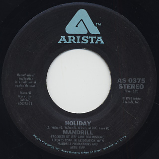 Mandrill / Too Late c/w Holiday back
