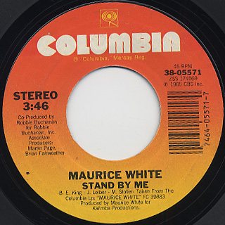 Maurice White / Can't Stop Love c/w Stand By Me back