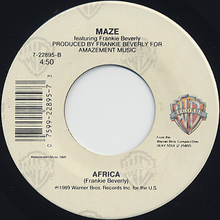Maze featuring Frankie Beverly / Can't Get Over You back