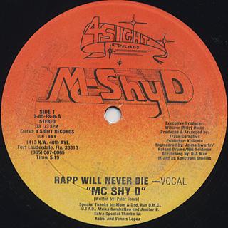 MC Shy D / Rapp Will Never Die