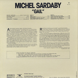 Michel Sardaby / Gail back