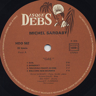 Michel Sardaby / Gail label