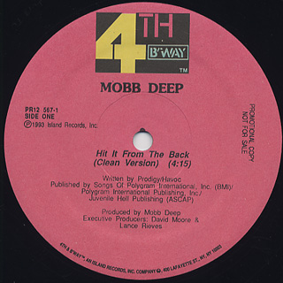Mobb Deep / Hit It From The Back back