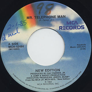 New Edition / Mr.Telephone Man c/w Instrumental back