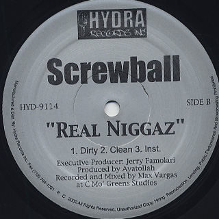 Screwball feat. Tragedy Khadafi / Too High, Too Low back