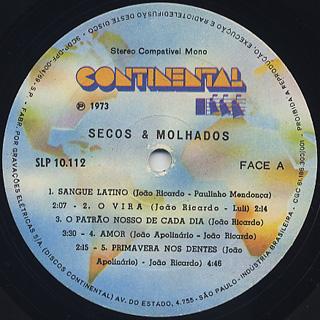 Secos & Molhados / S.T. label