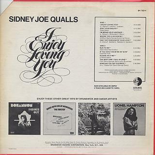 Sidney Joe Qualls / I Enjoy Loving You back