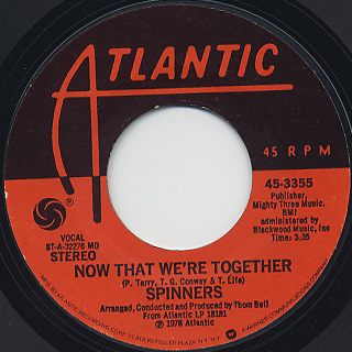 Spinners / The Rubberband Man c/w Now That We're Together