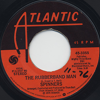 Spinners / The Rubberband Man c/w Now That We're Together back