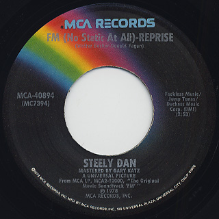 Steely Dan / F.M. (No Static At All) back