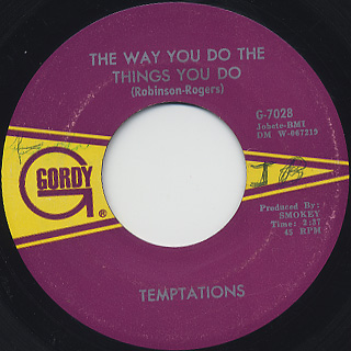 Temptations / The Way You Do The Things You Do c/w Just Let Me Know