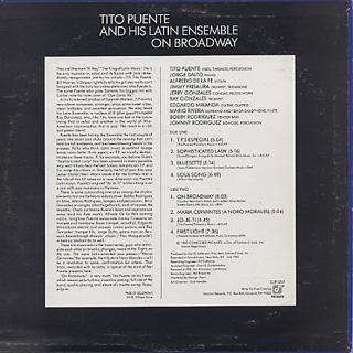Tito Puente And His Latin Ebsemble / On Broadway back