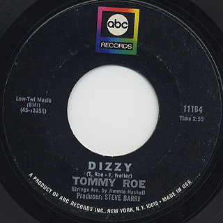 Tommy Roe / Dizzy c/w The You I Need