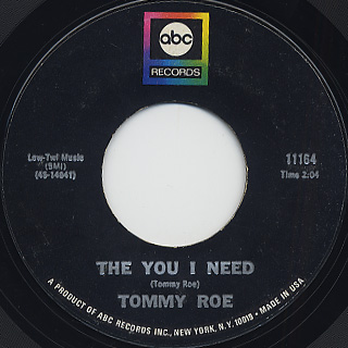 Tommy Roe / Dizzy c/w The You I Need back