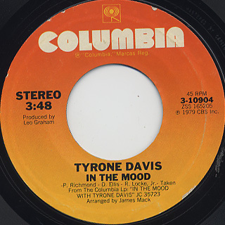 Tyrone Davis / In The Mood front