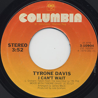 Tyrone Davis / In The Mood back